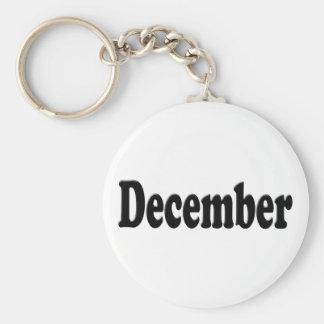 Svart text - December Nyckel Ringar