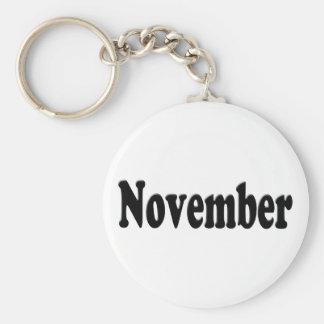 Svart text - November Nyckelringar