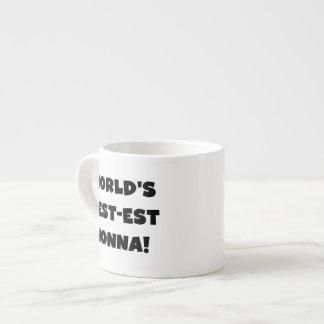 Svart textBäst-est Nonna T-tröja och gåvor Espressomugg