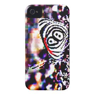 Svart tigerfjärilsblackberry fodral iPhone 4 fodral