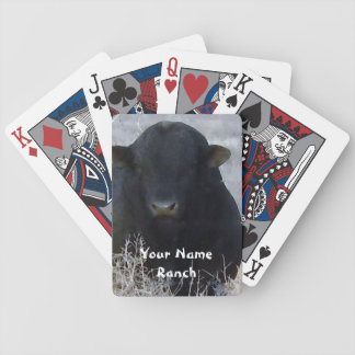 Svart tjur i Tumbleweeds - din kända ranch Spelkort