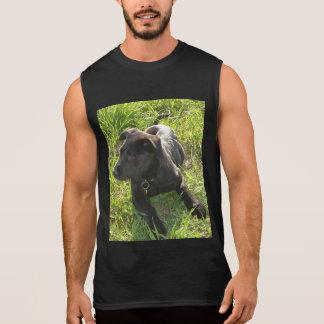 Svart tysk herde för Lacquer Sleeveless T-shirt
