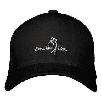 Svart utöva anknyter den inpassade hatten broderad keps