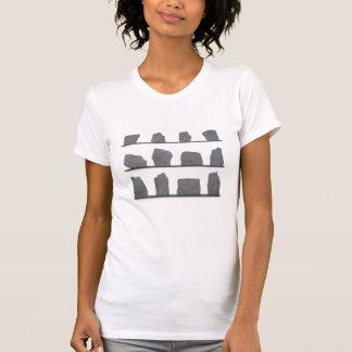 svart utskrivaven t-skjorta t shirt