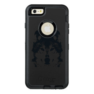Svart varg för illustration OtterBox defender iPhone skal