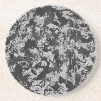 Svart vattenfärg på vit underlägg sandsten