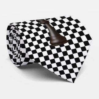 Svart vit för schackbräde slips