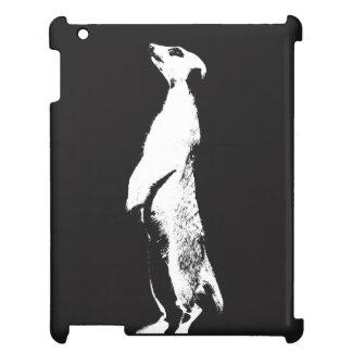Svart & vit högra Meerkat - - iPadfodral iPad Fodral