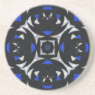 Svart vit Keolidescope för blått Underlägg Sandsten