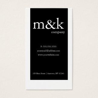 Svart & Vit Lodrät Företag eller personligt Visitkort