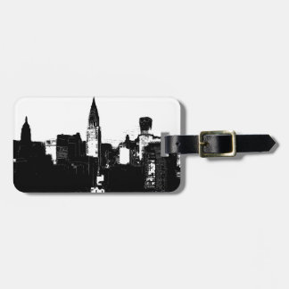 Svart & vit New York City Bagagebricka