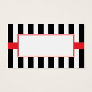 Svart, vit & röda Themed kort Set Av Standard Visitkort