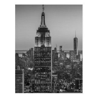 Svart- & vitantennen beskådar av den New York City Vykort
