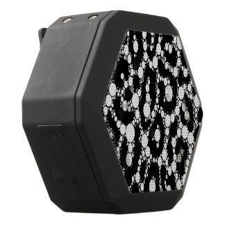 Svart vitBling Cheetah Svart Bluetooth Högtalare