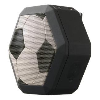 svart vitfotboll för 3D Soccerball Svart Bluetooth Högtalare