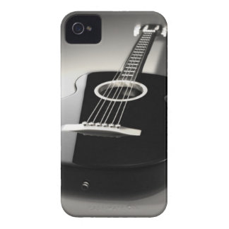 Svart- & vitgitarriPhone 4 eller telefon Cas för Case-Mate iPhone 4 Skal
