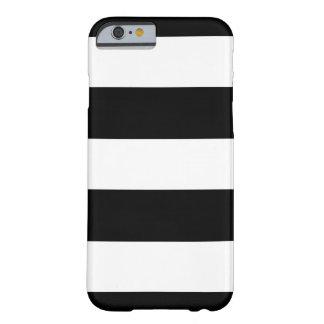 Svart- & vitmodellerar horisontalrandar | Any Barely There iPhone 6 Skal