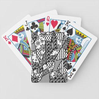 Svart- & vitmönsterPatchwork 03 Spelkort