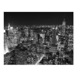 Svart- & vitNew York skyscraper Vykort