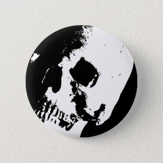 Svart- & vitskalle standard knapp rund 5.7 cm