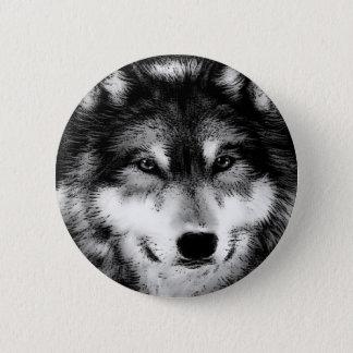 Svart- & vitvarg standard knapp rund 5.7 cm