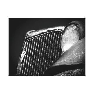 Svart- & vitvintage car grillar canvastryck