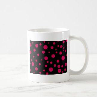 Svart w hoad röd rosa polka dotsanpassade vit mugg