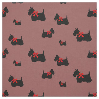 Svart/wheaten silhouette för skotsk Terrier Tyg