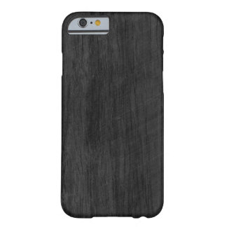 Svart Wood struktur Barely There iPhone 6 Fodral