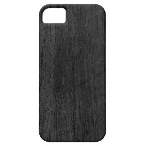 Svart Wood struktur iPhone 5 Fodraler