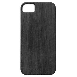 Svart Wood struktur iPhone 5 Cover