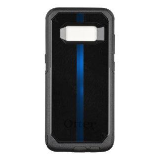 Svart Wood utseendemässig tunn blålinjen OtterBox Commuter Samsung Galaxy S8 Skal