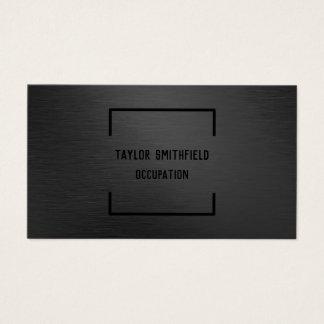 svart yrkesmässig geometrisk visitkort för matte