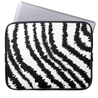 Svart zebra tryckmodell laptopskydd fodral