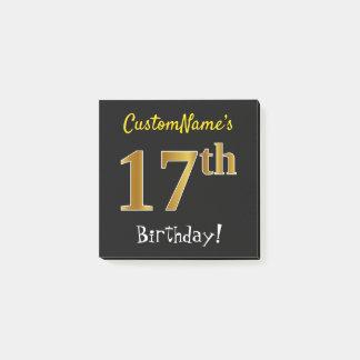 Svärta den 17th födelsedagen för Fauxguld, med Post-it Lappar