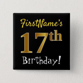 Svärta den 17th födelsedagen för Fauxguld, med Standard Kanpp Fyrkantig 5.1 Cm