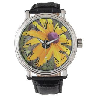 Svärta den synade Susan klockan med den romerska Armbandsur