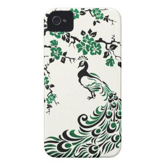 Svärta, omkullkastar smaragden påfågeln, & Case-Mate iPhone 4 case