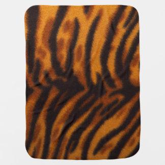 Svärta randig tigerpäls eller flå strukturmallen bebisfilt