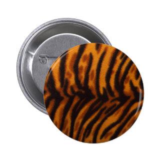 Svärta randig tigerpäls eller flå strukturmallen standard knapp rund 5.7 cm