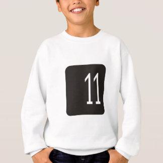 Svarten #11 kvadrerar t shirt