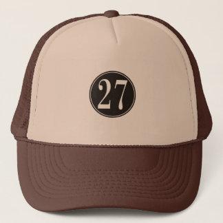 Svarten #27 cirklar truckerkeps