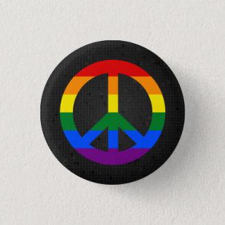 Svarten för LGBT-flaggafredstecken knäppas Mini Knapp Rund 3.2 Cm