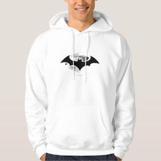 Svarten för uppassaresymbol | skuggar logotypen sweatshirt med luva