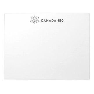 Svarten för vågrät för Kanada 150 officielllogotyp Anteckningsblock