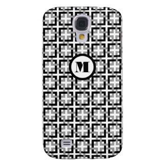 Svarten och grått kvadrerar fodral för den Samsung Galaxy S4 Fodral