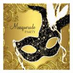 Svarten och guld maskerar maskeradpartyet personliga tillkännagivanden
