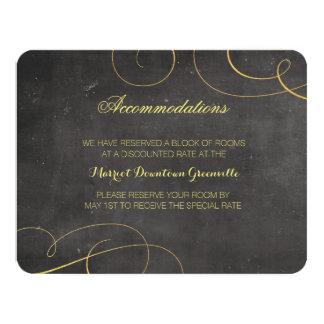 Svarten och guld omkullkastar kortet för 10,8 x 14 cm inbjudningskort
