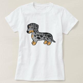 Svarten och solbrännan Dapple slätar lagtaxhunden T-shirt