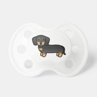 Svarten och solbrännan slätar lagtaxtecknad hund napp